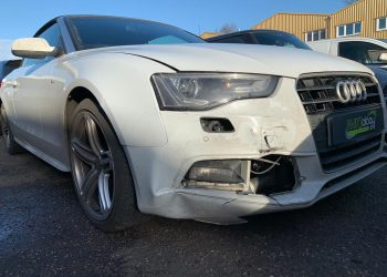 Audi A5 S Line Cabriolet Front Bumper/Offside Front Wing Repair