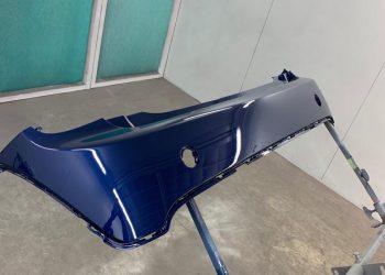 Mini Cooper Rear Bumper Paint Applied